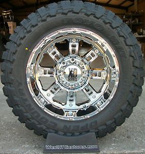 20x10 Chrome XD Riot Wheels Toyo Open Country MT 35x12 5x20 Tires