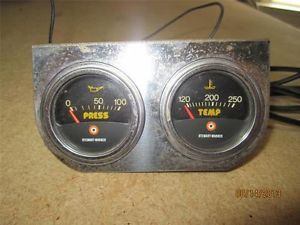 Vintage Hot Rod Stewart Warner Oil Press Temp Temperature Gauge