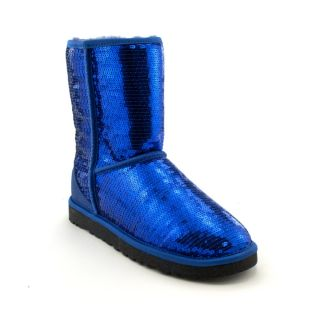 Womens UGG® Classic Short Sequin Boot, Blue Sparkle