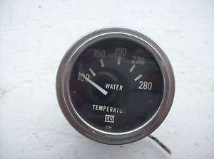 "Stewart Warner Water Temp Gauge 12V 465 No Sender 2 1 4"" Face x 2 "" Deep"