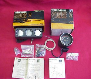 Vintage New Stewart Warner Gauges Tach Oil Temp Amp Chevy Ford Dodge AMC