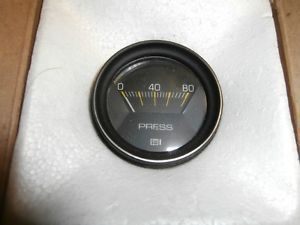 Stewart Warner P N 281 D Mechanical Oil Fuel Pressure Gauge 0 80 PSI