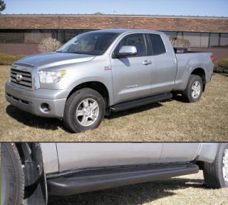 Custom Running Boards 2007 2012 Toyota Tundra Crewmax Factory Style Black Steps