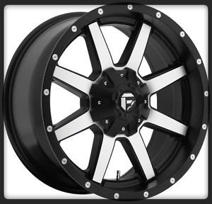 "20"" Fuel Maverick Machined Rims Toyo 35x12 50X20LT Open Country MT Tires Wheel"
