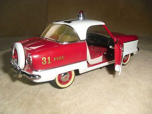 1956 Nash Metropolitan Fire Chiefs 1 24 Franklin Mint Precision Diecast Car