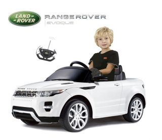 Kids Range Rover Evoque Electric Ride on Car Toy w Remote Control More White