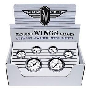 Stewart Warner 82224 Gauge Kit Wings Speedometer
