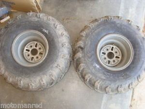 01 Yamaha 400 2WD Big Bear YFM400 00 02 Rear Wheel Rims Tires Mud Fox ITP ATV 10
