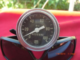 Stewart Warner Mechanical Oil Pressure Gauge