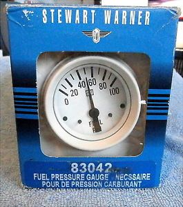 Stewart Warner Fuel Pressure Gauge 83042 0 to 100 PSI Electric 2 1 16""