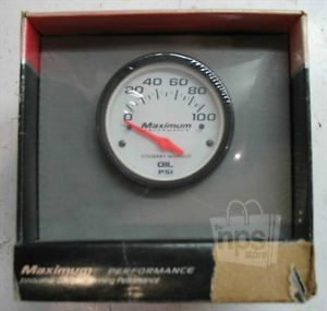 Stewart Warner Performance 113003 Electric Oil Gauge 100PSI 2in x 2 25in New