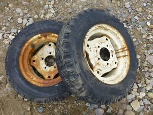 Cub Cadet 73 Tractor Firestone 6 12 Rear Tires Rims
