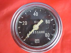 Used Vintage Manual Stewart Warner Oil Pressure Gauge Made in The USA