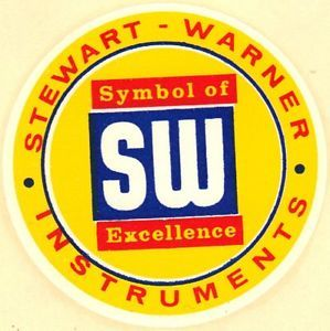 Original Vintage Stewart Warner Decal Gauge Rat Hot Rod Drag Racing Old Scta BNI