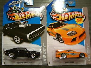 Hot Wheels Fast and Furious Dodge Charger and Toyota Supra