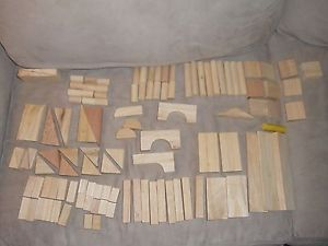 111 PC Wooden Building Blocks Set Nice All Kinds of Shapes Triangle Cylind