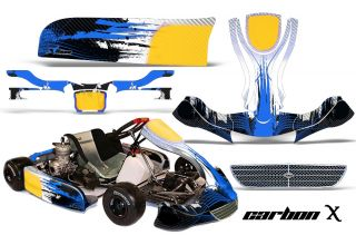 AMR Racing Kart Graphics Decal Sticker Kit KG EVO Stilo Parts Accessory Carbon B