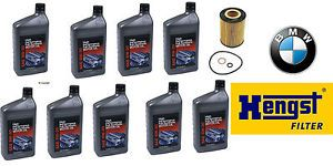 Hengst Engine Oil Filter 9 Quarts Genuine BMW High Performance Motor Oil