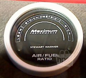 "Stewart Warner 113237 in Dash Air Fuel Ratio Gauge 2"" Black New"