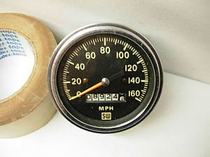 Vintage Stewart Warner 160 MPH Speedometer Gauge Lights Up Street Rod SW