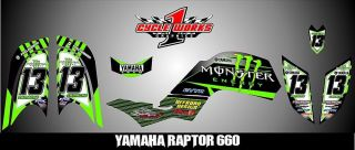 Yamaha Raptor 660 YMF 660 Semi Custom Made Graphics Decals Graficas Pegatinas