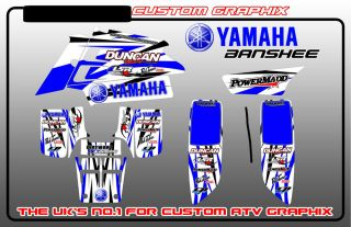 Yamaha Banshee 350 Raptor 700 660 250 Sticker Kit Decal Graphic Kit 700R