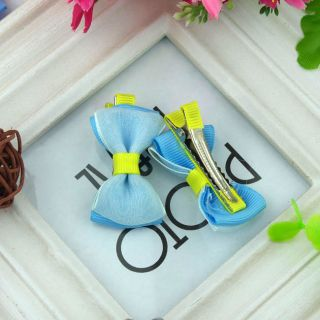 2pcs 1 Pair Lovely Cute Double Pure Barrettes Hairclips Baby Girl Toddler 084