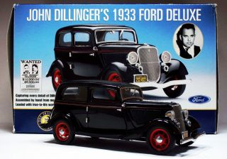 John Dillinger's 1933 Ford Deluxe by Franklin Mint No Paperwork or Accessories