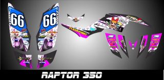 Yamaha Raptor 350 Custom Made Graphics Kit Decal Pegatinas Graficas