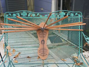 Vintage Horse Shoe Brand American Wringer Wood Co Empire Clothes Dryer Rack No 3