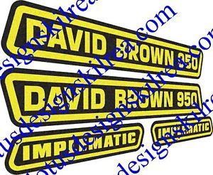 David Brown 950 Implematic Tractor Stickers Decals
