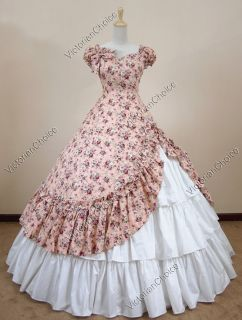 Southern Belle Civil War Cotton Ball Gown Dress Reenactment 208 S