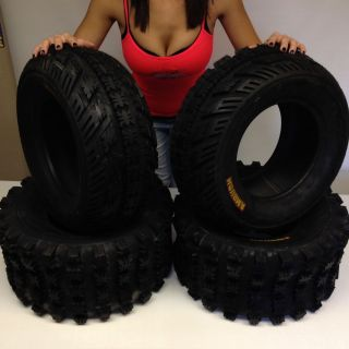 Yamaha 660 Raptor Full Complete Set 4 21x7 10 20x10 9 Sport Ambush ATV Tires