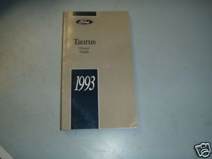 1993 Ford Taurus Original Driver Owners Manual Guide 93