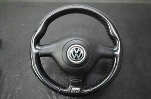 VW 98 09 MK4 Jetta GTI Golf Passat B5 R32 3 Spoke Steering Wheel with Airbag MK3