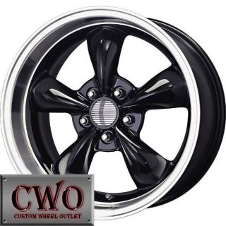 17 Black Replica Bullitt Wheels Rims 5x114 3 5 Lug Mustang 350Z G35 Crown Vic