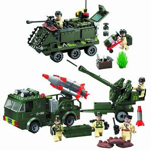 Military Vehicle Building Blocks Toy Set Army Truck Tank Brand New 812 814