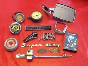 Lot of Vintage Car Parts Accessories Misc Items Ford Plymouth Jeep