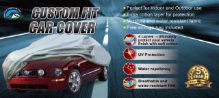 Custom Car Cover for '94 '04 Ford Mustang w Spoiler Gray 4 Layers Polypropylene