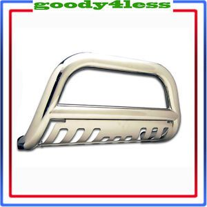 06 13 Honda Ridgeline Stainless Steel Bull Bar Bumper Push Guard Polished Front