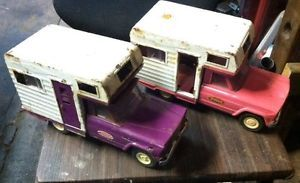 "Tonka Jeep camper Toy Purple Pink Truck 1963 69 Vintage 9 1 2"" Parts Restore"