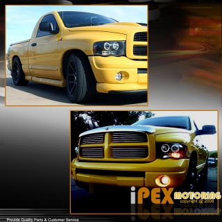 Ultra Bright 2002 2005 Dodge RAM 1500 2500 3500 Halo LED Projector Headlights
