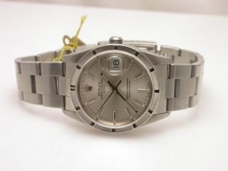 Rolex Date Oyster Stainless 15210 2006 Men Watch $5300