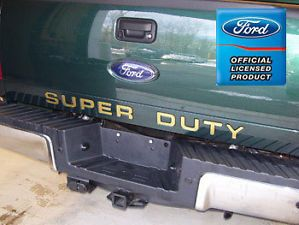 2008 Ford F250 Super Duty Tailgate Letter Insert Decals