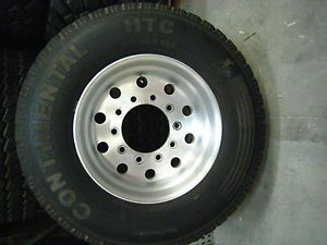 5 Wheels 22 5 Rim Continental HTC 385 65R22 5 Wide Semi Truck Tires 385 65 22 5
