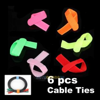 Velcro Cable Management Ties 6 Foot Wire Cord Straps L