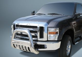 "Huge 4"" Stainless Bull Bar Push Grill Guard 2008 2010 Ford F250 F350 Super Duty"
