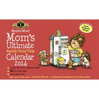 Mom's Ultimate Family Fridge 2014 Magnetic Mount Wall Calendar