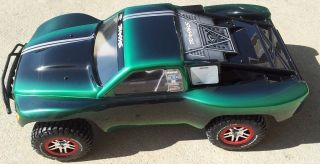 Traxxas 1 10 Slash 4x4 Body Custom Painted Green Black TRA6808 TRA6804R