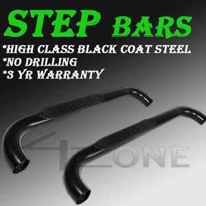 02 08 Dodge RAM 1500 Standard Cab 2 Door Black Step Nerf Bar Running Board